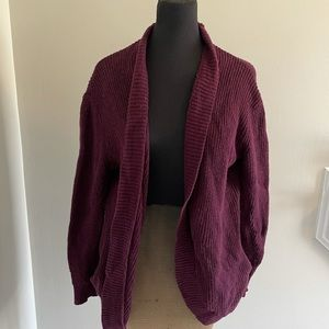AMERICAN EAGLE OPEN FRONT DUSTER SLOUCHY CARDIGAN